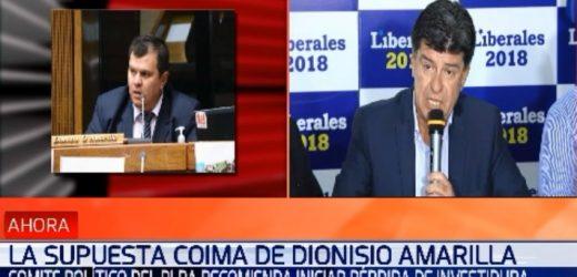 Liberales pedirán pérdida de investidura de Amarilla