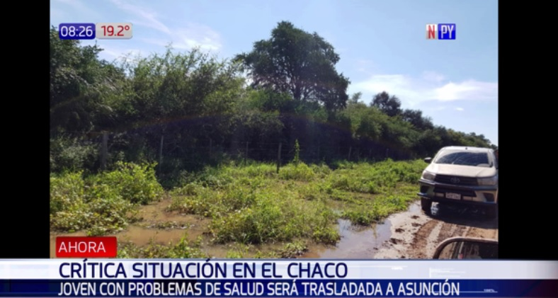 Caminos del Chaco impiden trasladar a menor enferma