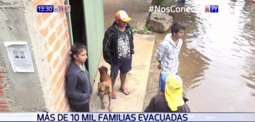 10.000 familias asuncenas afectadas por crecida