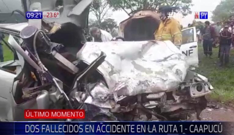 Camioneta de BNF involucrada en accidente fatal