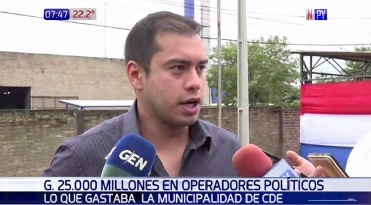 """""""En operadores políticos de CDE se gastó G. 25.000 millones"""""""