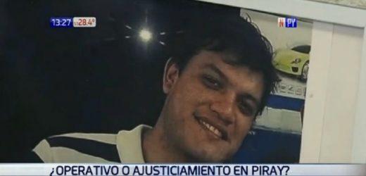 Operativo en Piray: Balazos fueron a la cabeza y cuello