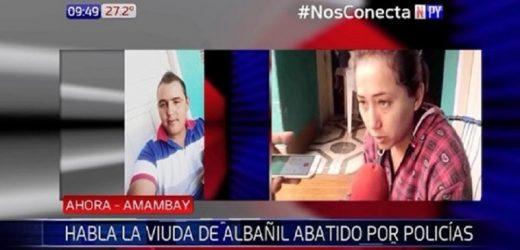 Esposa de albañil abatido pide justicia