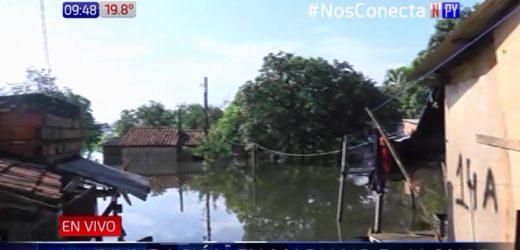 Así afecta la inundación a Mariano Roque Alonso