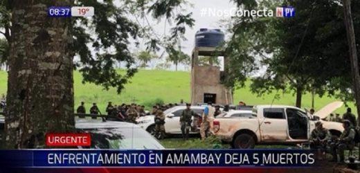 Tiroteo entre policías y delincuentes deja 5 muertos