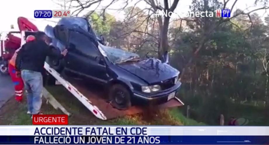 Joven muere en accidente