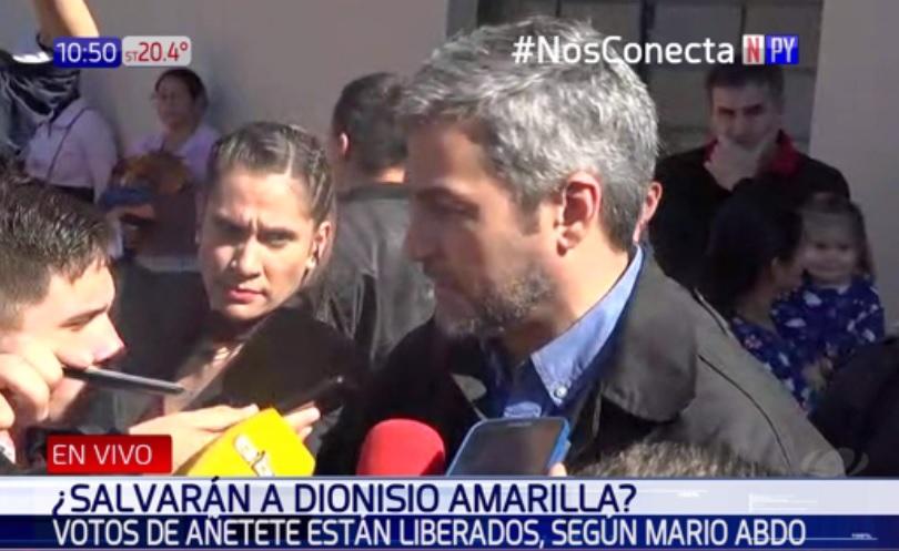 """Votos de Añetete sobre Dionisio Amarilla """"están liberados"""""""