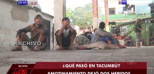 Otro amotinamiento en Tacumbú