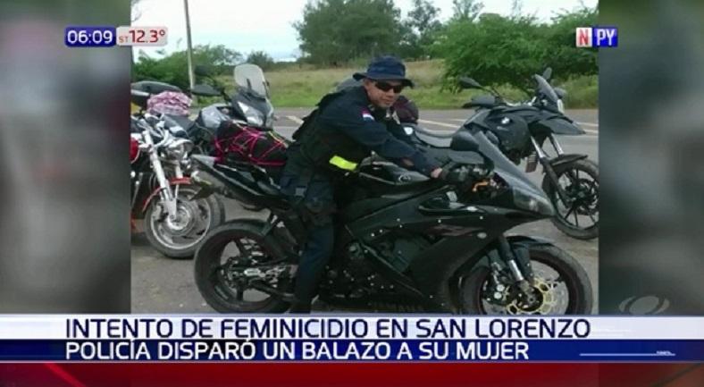Policía imputado por tentativa de feminicidio