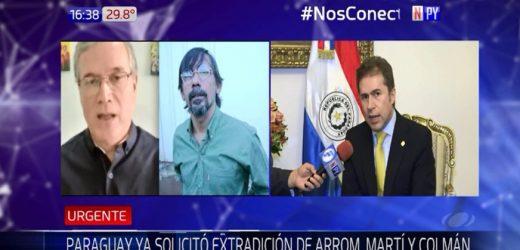 "Castiglioni: ""Ninguna democracia acogerá a Arrom y Martí"""