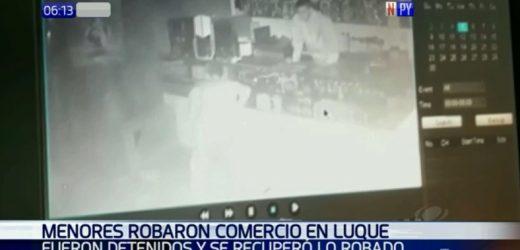 Dos menores detenidos tras robo en local comercial