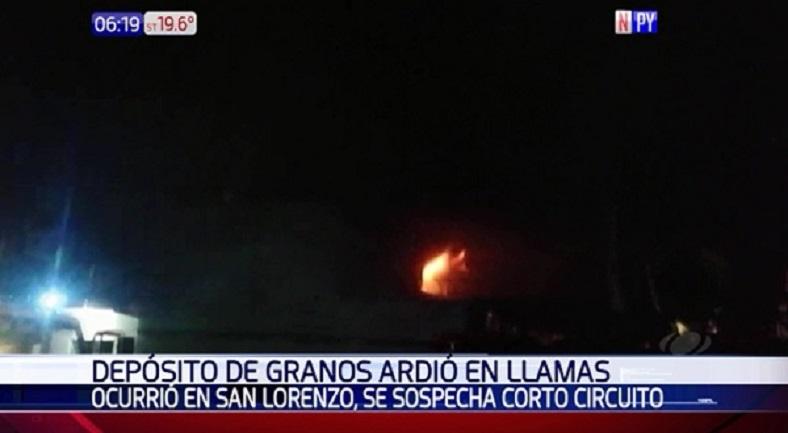 Voraz incendio en San Lorenzo