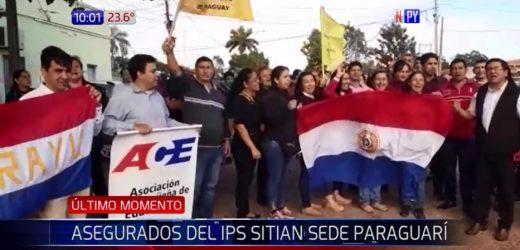 Asegurados sitian IPS de Paraguarí y exigen transparencia