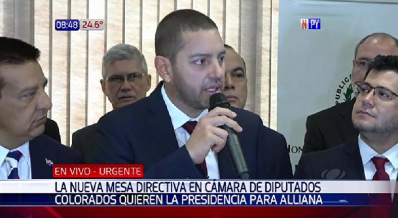 Oficialistas y cartistas dan su apoyo a Pedro Alliana para presidir Diputados