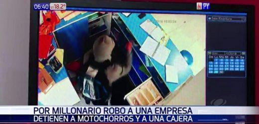 Caen motochorros tras millonario robo a un comercio