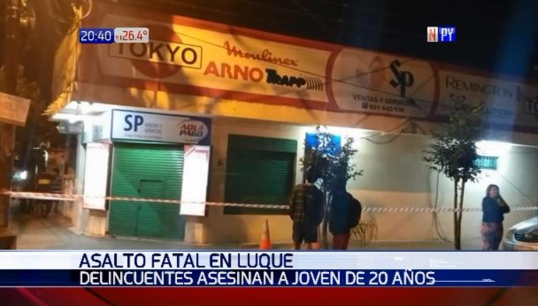 Motochorro mata a joven de 20 años