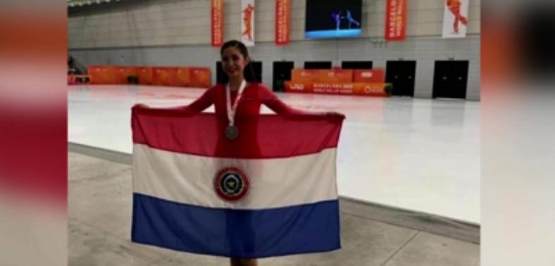 Paraguaya llega a podio de Mundial de Patinaje