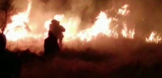 Colosal incendio en Misiones