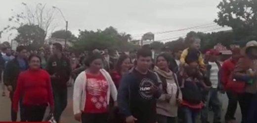 Productores en San Pedro bloquean la ruta 3