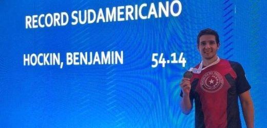 Oro y récord sudamericano para Hockin