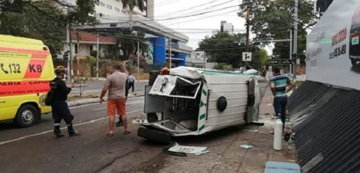 Seis personas heridas en triple choque sobre Mariscal López
