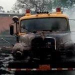 Repondrán carro de bombero incendiado