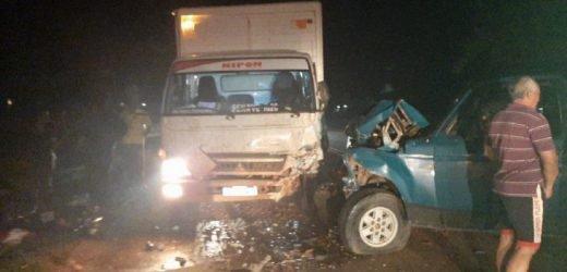 Triple choque deja un fallecido en Santa Rosa del Aguaray