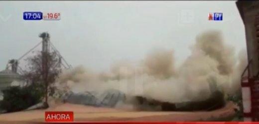 ¡Impactante! Explosión en silo causa derrumbe