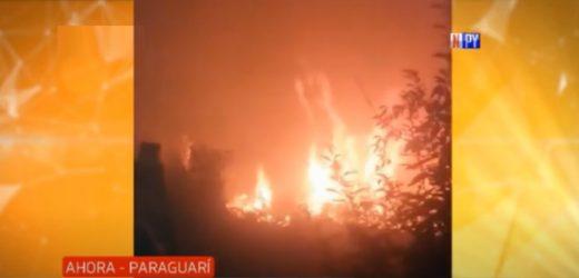 Apicultor lo perdió todo a causa de un incendio presuntamente provocado