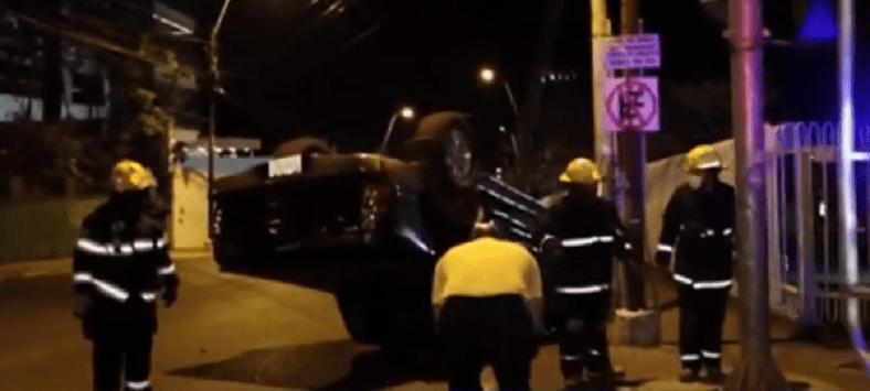 Violento accidente sobre España deja conductores ilesos