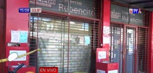 San Lorenzo: Derrumbe de un negocio deja tres heridos