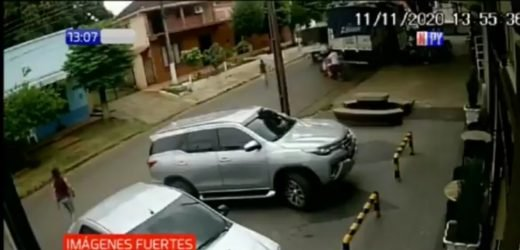 Itapúa: Niño se salvó de milagro tras ser brutalmente arrollado por un motociclista