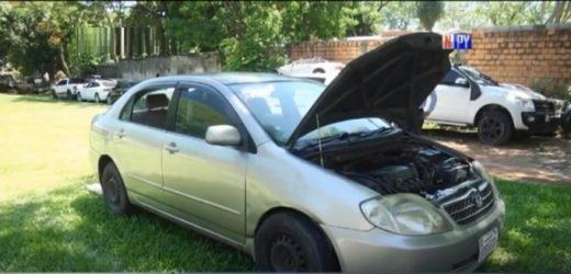 Recuperan auto robado tras persecución policial