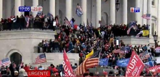 Adherentes de Trump toman Capitolio en contra de validación de victoria de Biden