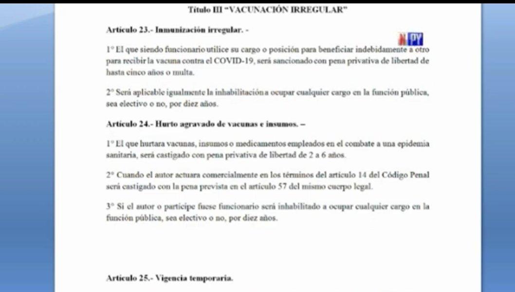 Covid: Presentarán proyecto de Ley que prevé sanciones contra vacunaciones vip