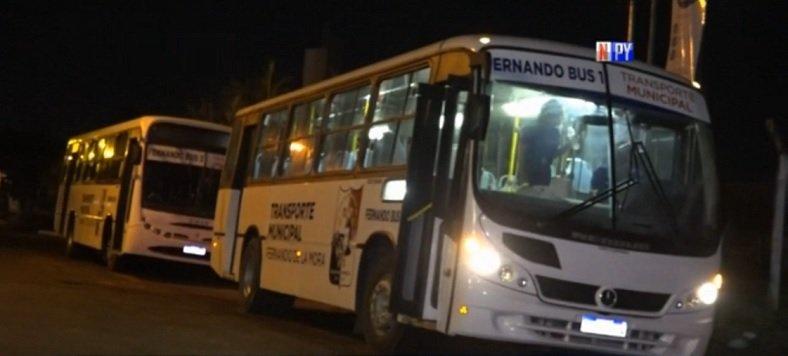 Habilitan transporte nocturno en Fernando de la Mora