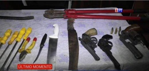 Desbaratan peligrosa banda de asaltantes en San Lorenzo