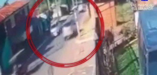 Pediatra atropella a madre y a su hijo en Lambaré